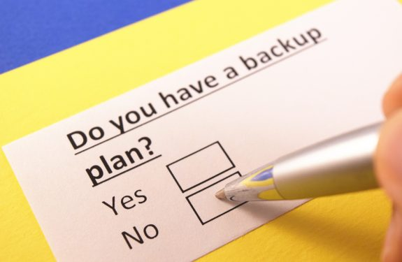 Hebt u een back-up plan?